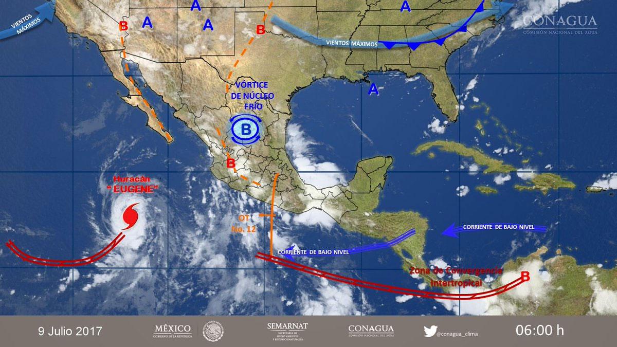 Cielo nublado con lluvias prevalecerán en el noroeste y occidente del país
