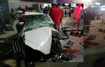 Vehículo se estrella frente a gasolinera en Puerto Escondido - Quadratín Oaxaca