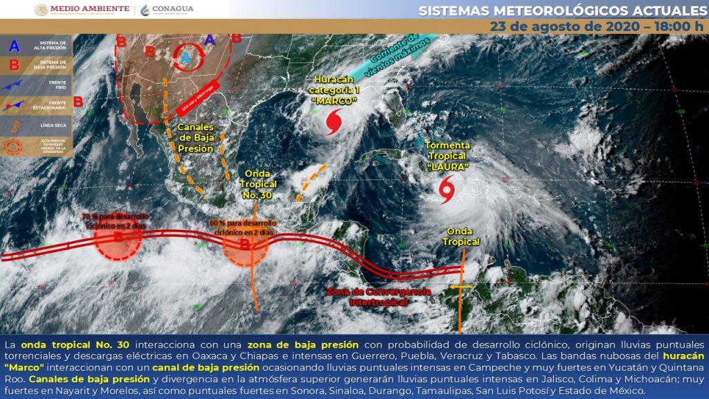 Se forma tormenta tropical Hernán y amenaza a Michoacán - Quadratín