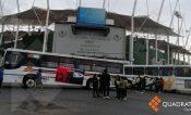 Bloquean el crucero del estadio de béisbol en la ciudad de Oaxaca